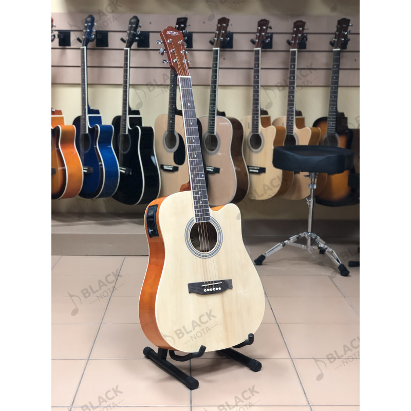 "Гитара акустическая CARAVAN MUSIC HS-4111N EQ 41"" с подключением"