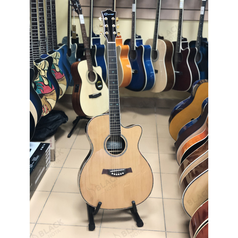 Акустическая гитара Caraya SP50-C с вырезом цвет натуральный